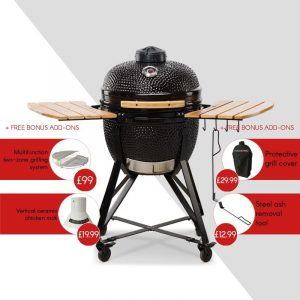 Kamado Bono Media Ceramic Barbeque Grill-min