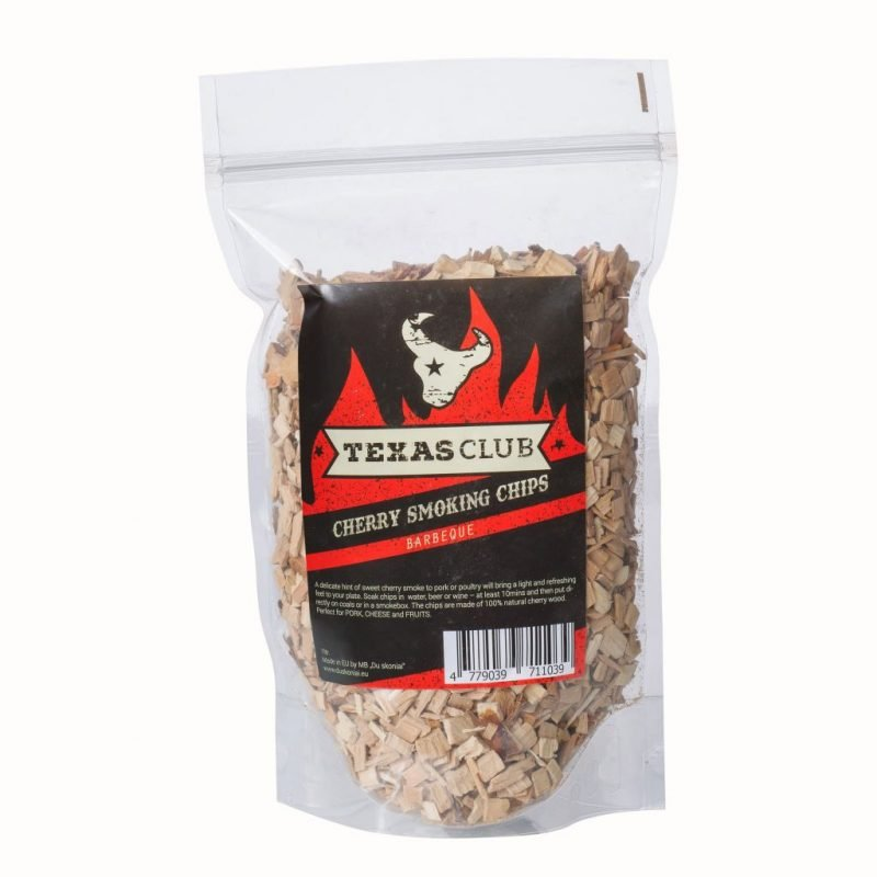 Texas Club cherry wood chips, 1ltr.