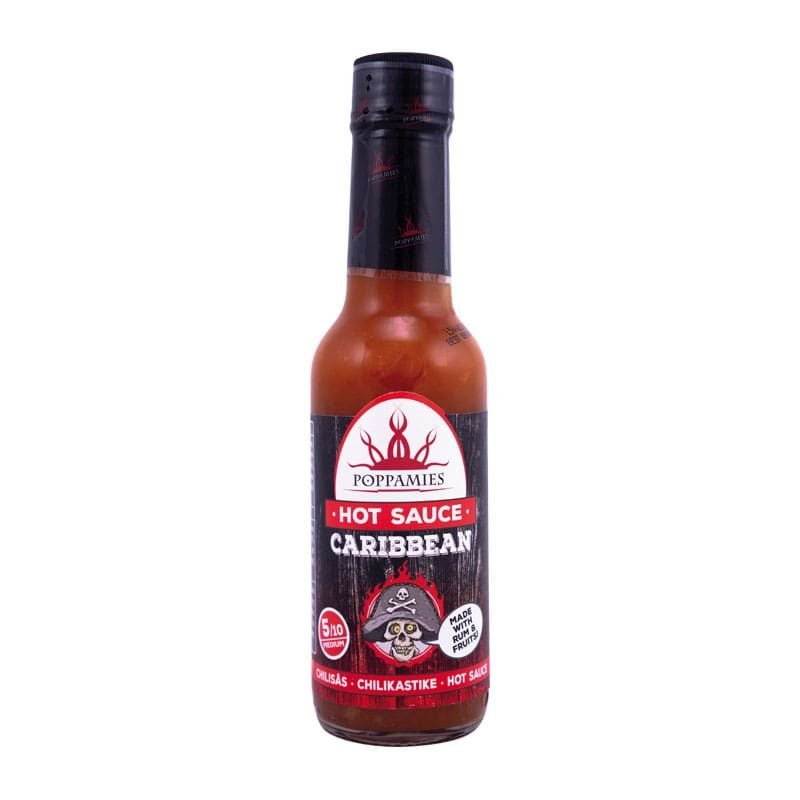 Poppamies Caribbean Hot sauce-marinade, 150 ml.