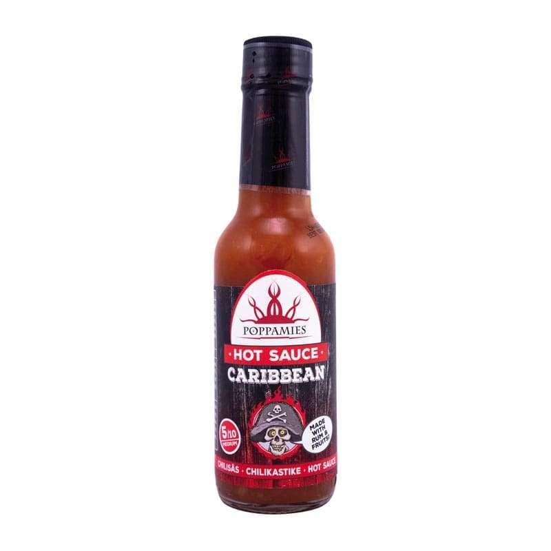 Poppamies Caribbean Hot sauce-marinade, 150 ml.