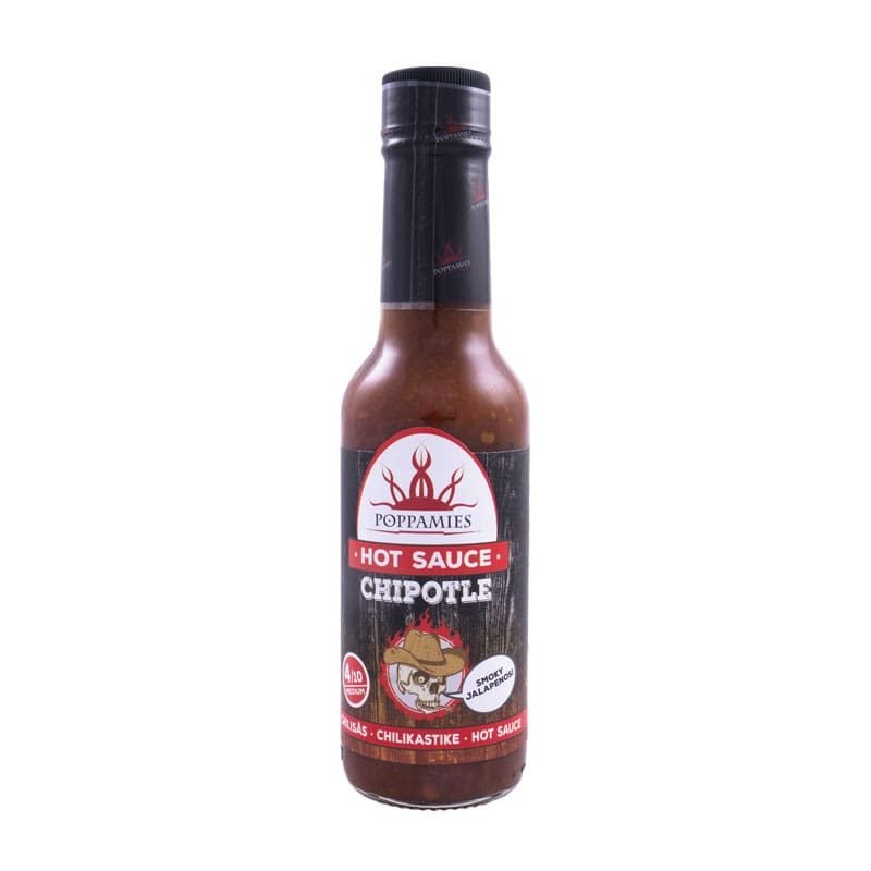 Poppamies Chipotle hot sauce-marinade, 150 ml.