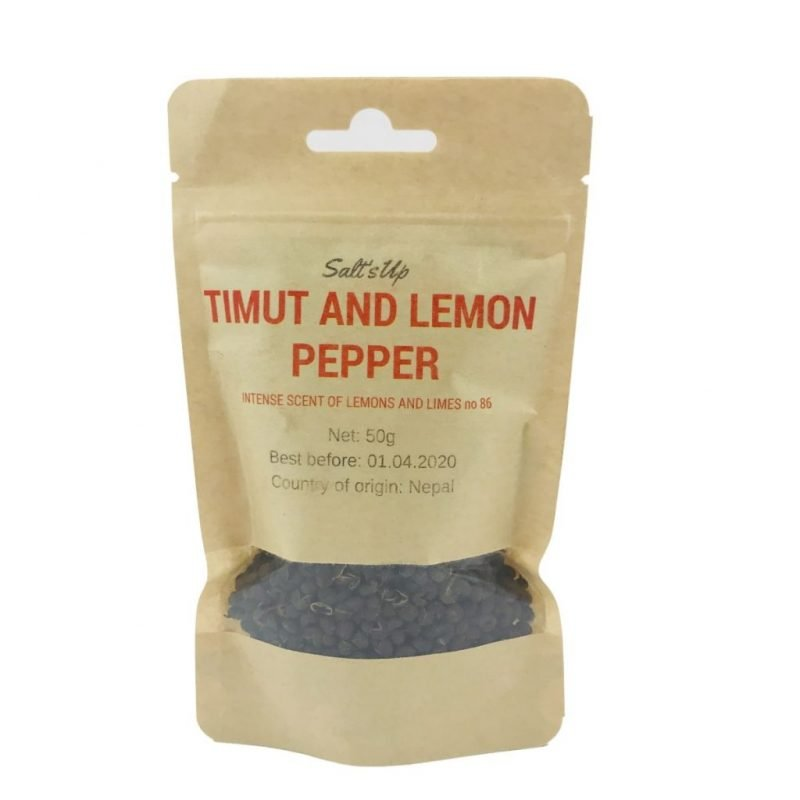 Salt's Up Timut & Lemon pepper, 50g.