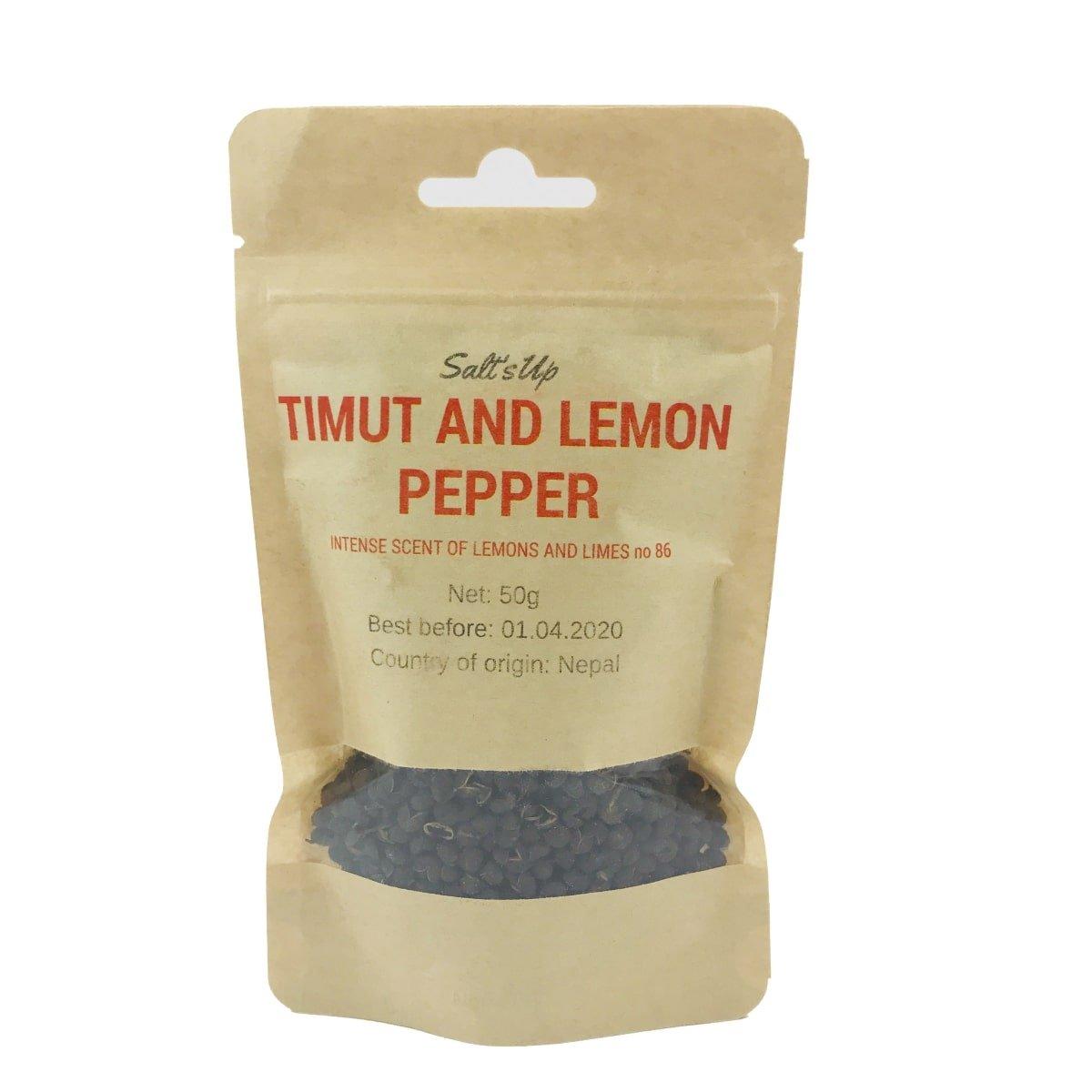 Salt's Up Timut & Lemon pepper, 50g.