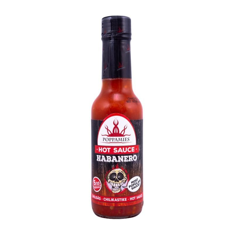 Poppamies Habanero hot sauce-marinade, 150 ml.