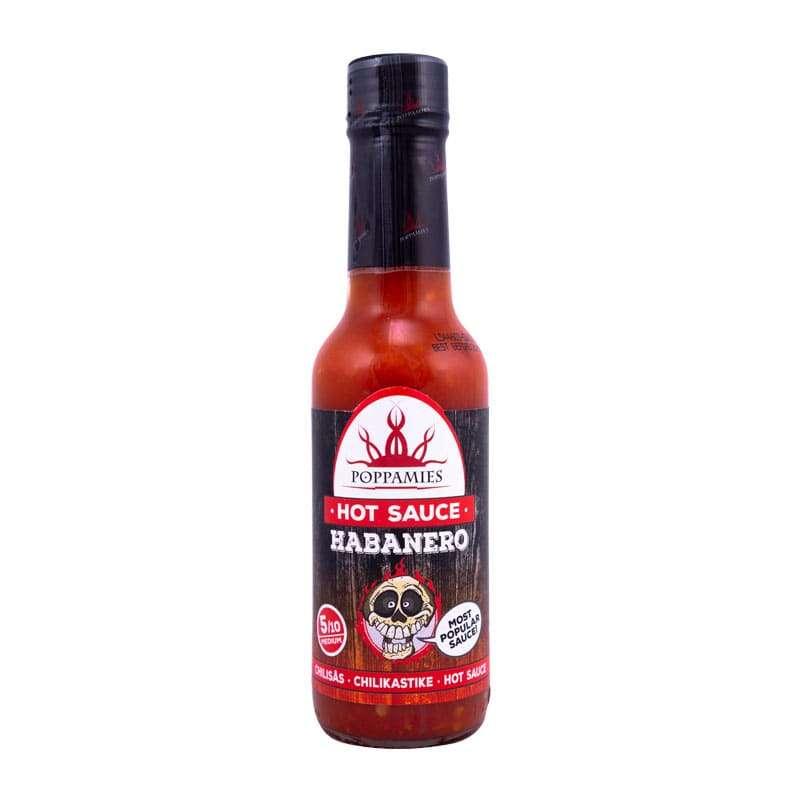 Poppamies Habanero hot sauce-marinade, 150 ml.