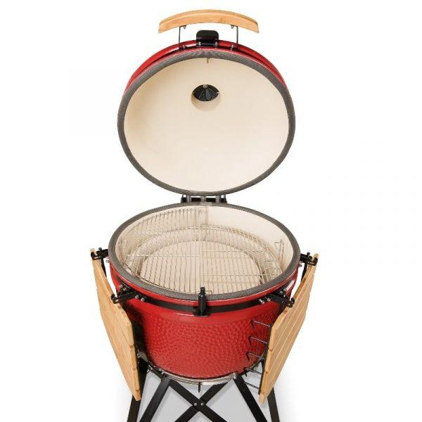 Kamado Bono Ceramic Grande Limited Red Barbeque Grill 1-min