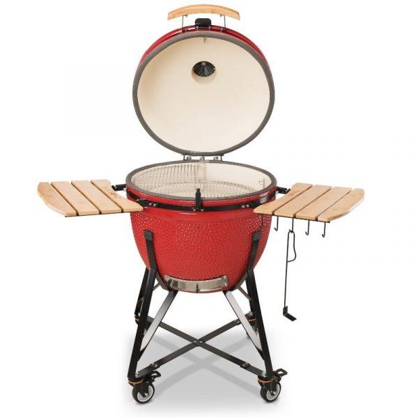 Kamado Bono Ceramic Grande Limited Red Barbeque Grill 3-min