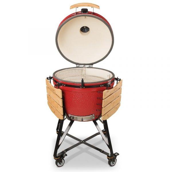 Kamado Bono Ceramic Grande Limited Red Barbeque Grill 4-min