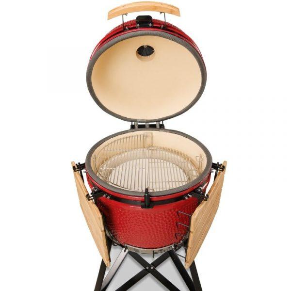 Kamado Bono Ceramic Grande Red Barbeque Grill 1-min