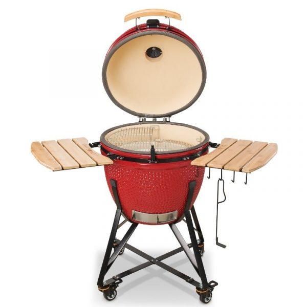 Kamado Bono Ceramic Grande Red Barbeque Grill 3-min