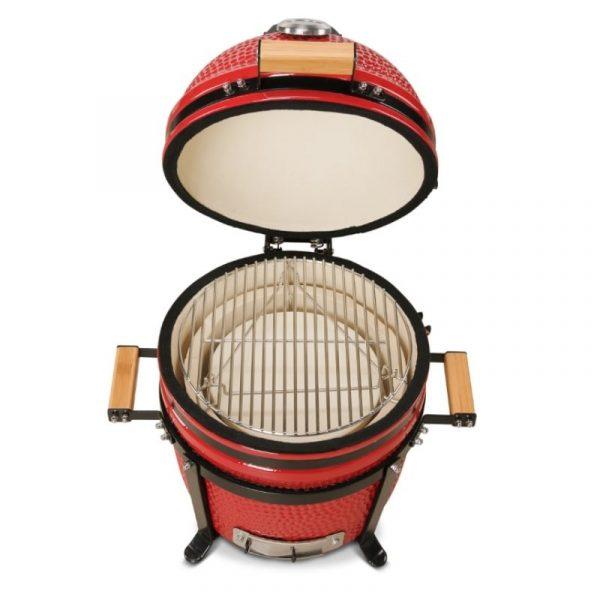 Kamado Bono Ceramic Minimo Red Barbeque Grill 1-min