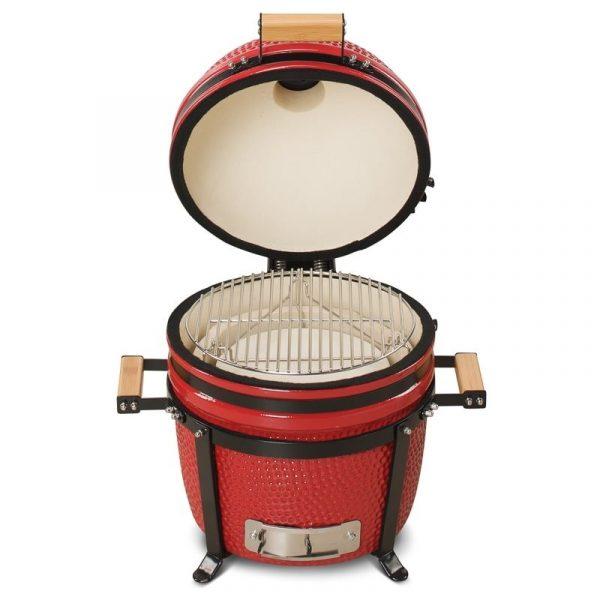 Kamado Bono Ceramic Minimo Red Barbeque Grill 3-min