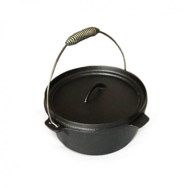 Dutch Oven cast iron pot with lid, 3.9 l.