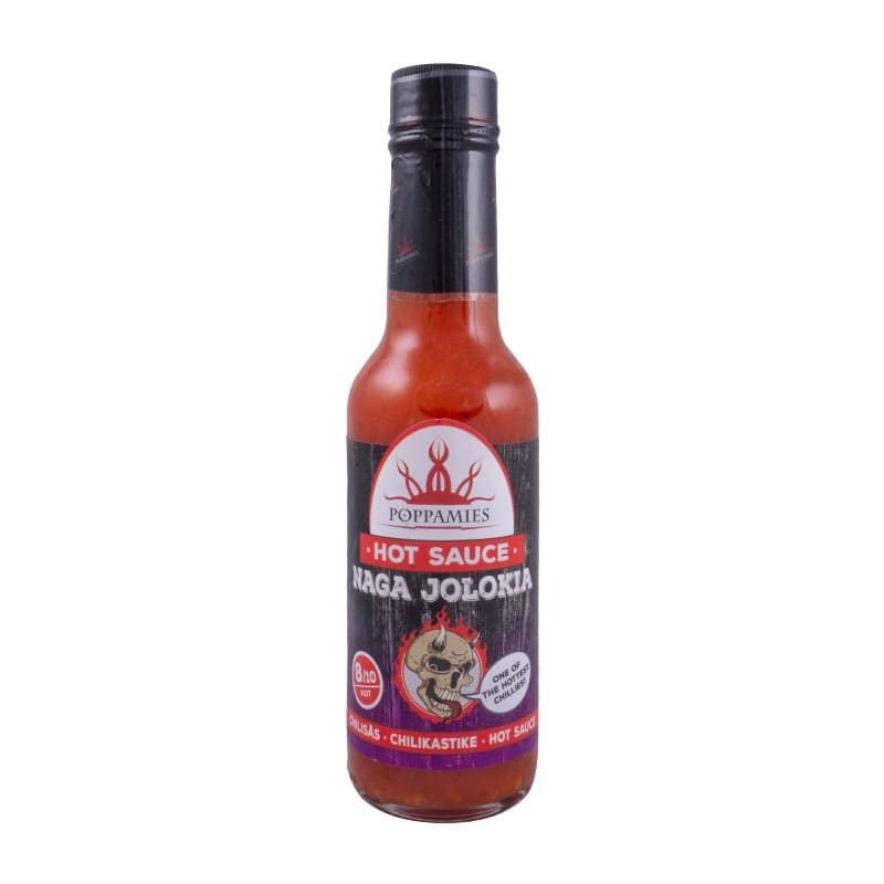 Poppamies Naga In Jolokia Chilli Sauce - Marinade, 150ml.