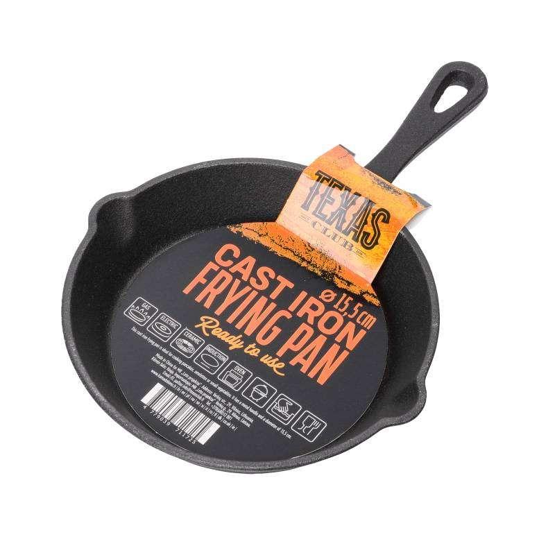 Texas Club Cast iron frying pan, Ø 15.5cm.