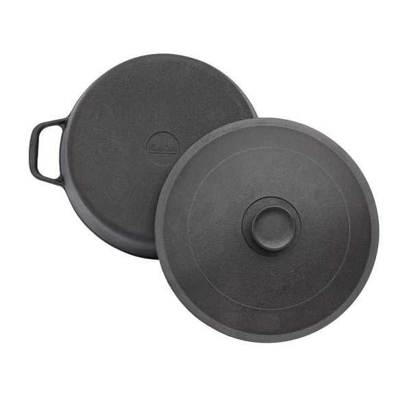 Kamado Kings 260 mm-diameter cast iron pot with lid, 5 l.