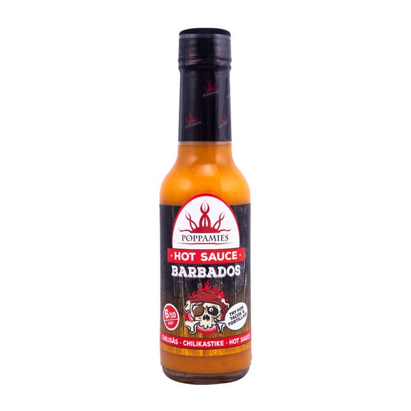 Poppamies Barbados hot sauce-marinade, 150 ml.