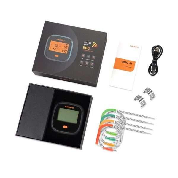 INKBIRD IBBQ-4T Wifi Thermometer-min