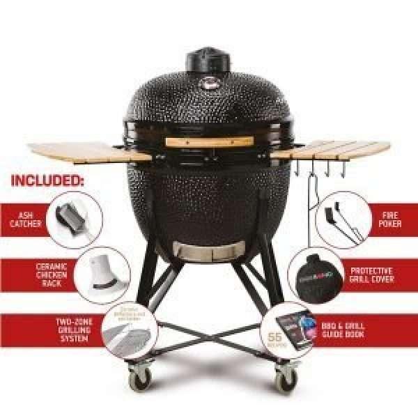 Kamado Bono Grande Limited Black Grill