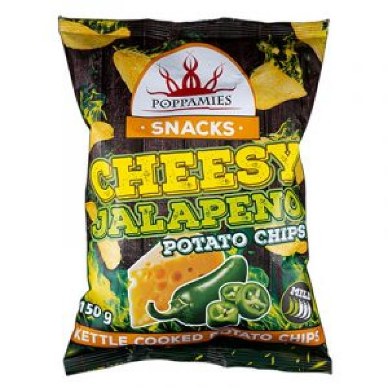 Potato chips with cheese and jalapenos, 150 g.