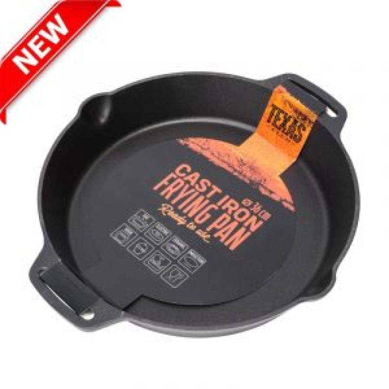 Cast iron frying pan with short handles, 36 cm.